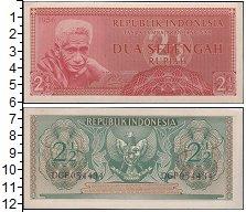 Изображение Банкноты Индонезия 2 1/2 рупии 1956  XF
