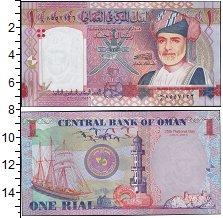 Изображение Банкноты Оман 1 риал 0  UNC Портрет султана Кабу