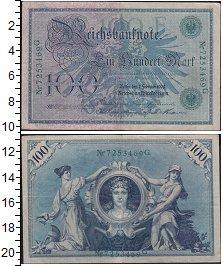 Изображение Банкноты Германия 100 марок 1908  XF Выпуск 7 сентября 19