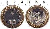 Изображение Мелочь Швейцария 10 франков 2014 Биметалл UNC- Праздник Гансабауэт