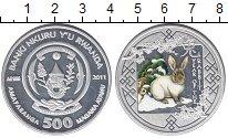 Изображение Монеты Руанда 500 франков 2011 Серебро Proof Цветная эмаль. Год К