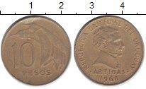 Изображение Монеты Уругвай 10 песо 1968 Латунь XF
