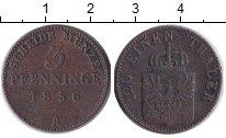 Изображение Монеты Пруссия 3 пфеннига 1856 Медь VF