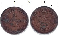 Изображение Монеты Саксония 2 пфеннига 1862 Медь XF-