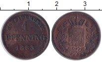 Изображение Монеты Бавария 1 пфенниг 1863 Медь VF Максимиллиан II