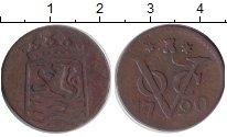 Изображение Монеты Нидерландская Индия 1 дьюит 1790 Медь VF Герб Зеландии