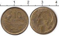 Изображение Дешевые монеты Франция 10 франков 1952 Цинк F
