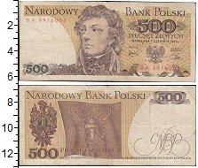 Изображение Банкноты Польша 500 злотых 1982  UNC .