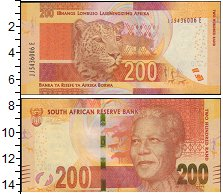 Изображение Банкноты ЮАР 200 рандов 0  XF Нельсон Мандела.