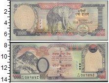 Изображение Боны Индия 1000 рупий 0  XF Слон.