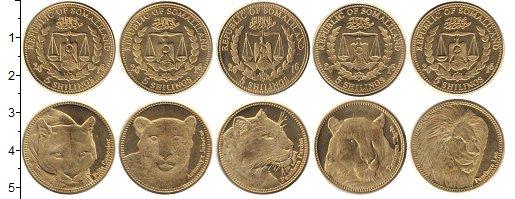 Изображение Наборы монет Сомалиленд 5 шиллингов 2016 Латунь UNC В наборе 5 монет ном