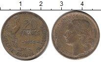 Изображение Дешевые монеты Франция 20 франков 1950 Медь Proof