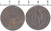 Изображение Барахолка Западно-Африканский Союз 100 франков 1969 Медно-никель F