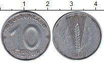 Изображение Барахолка ГДР 10 пфеннигов 1950 Алюминий F