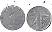 Изображение Барахолка ГДР 1 пфенниг 1953 Алюминий F