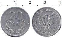 Изображение Барахолка Польша 20 грошей 1973 Алюминий XF-