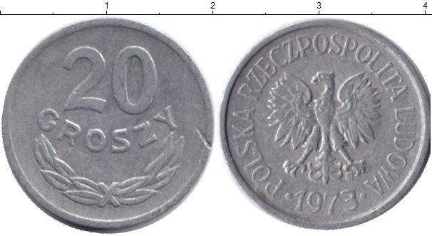 Картинка Дешевые монеты Польша 20 грош Алюминий 1973