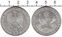 Изображение Монеты ФРГ 10 марок 1990 Серебро UNC-