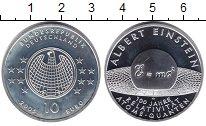 Изображение Монеты ФРГ 10 евро 2005 Серебро Proof- Альберт Энштейн
