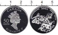 Изображение Монеты Канада 50 центов 2001 Серебро Proof- Елизавета II. Ньюфау