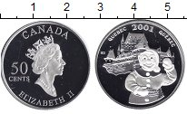 Изображение Монеты Канада 50 центов 2001 Серебро Proof- Елизавета II. Квебес