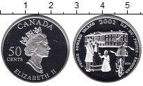 Изображение Монеты Канада 50 центов 2001 Серебро Proof- Елизавета II. Остров