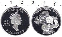 Изображение Монеты Канада 50 центов 2001 Серебро Proof- Елизавета II. Квебек
