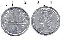 Изображение Монеты Сен-Пьер и Микелон 1 франк 1948 Алюминий XF