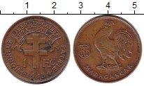 Изображение Монеты Камерун 1 франк 1943 Медь XF Петух