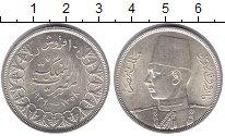 Изображение Монеты Египет 10 пиастр 1939 Серебро UNC- Фарук.