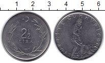 Изображение Монеты Турция 2 1/2 лиры 1967 Неопределено XF