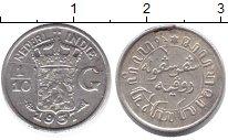 Изображение Монеты Нидерландская Индия 1/10 гульдена 1937 Серебро XF