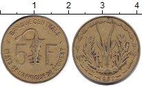 Изображение Монеты Западная Африка 5 франков 1982 Медь XF