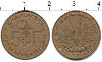 Изображение Монеты Великобритания Западная Африка 5 франков 1984 Медь XF