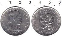 Изображение Монеты Чехословакия 10 крон 1965 Серебро XF Ян Гус 1415-1965