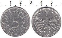 Изображение Монеты ФРГ 5 марок 1951 Серебро XF