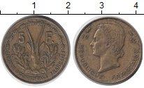 Изображение Монеты Франция Французская Африка 5 франков 1956 Латунь XF