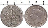 Изображение Монеты Великобритания 1/2 кроны 1942 Серебро XF