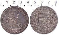 Изображение Монеты Австрия 1 талер 1665 Серебро XF+ Сигизмунд Франц