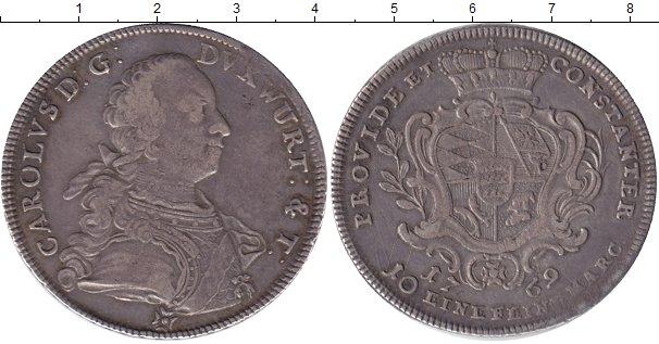 Картинка Монеты Вюртемберг 1 талер Серебро 1769