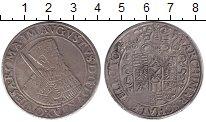 Изображение Монеты Саксония 1 талер 1555 Серебро XF- Август
