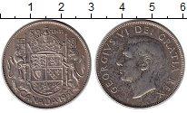 Изображение Монеты Канада 50 центов 1951 Серебро XF Георг VI.