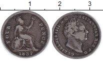 Изображение Монеты Великобритания 4 пенса 1837 Серебро VF