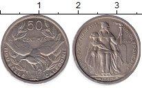 Изображение Монеты Новая Каледония 50 сантимов 1949 Медно-никель UNC (ПРОБА).Протекторат