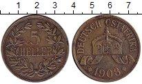 Изображение Монеты Немецкая Африка 5 геллеров 1908 Бронза XF-