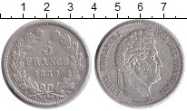 Изображение Монеты Франция 5 франков 1837 Серебро VF