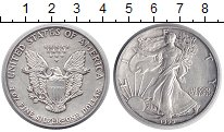 Изображение Монеты США 1 доллар 1990 Серебро XF Шагающая Свобода
