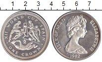 Монета Остров Мэн 1 крона Медно-никель 1982 XF фото