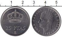 Изображение Монеты Испания 25 песет 1983 Медно-никель Proof-