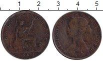 Изображение Монеты Великобритания 1/2 пенни 1861 Медь VF